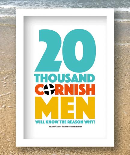 20 thousand cornishmen print white frame