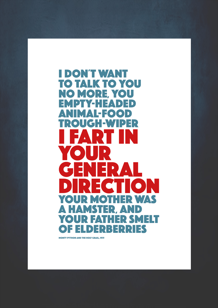 i fart in your general direction quote no frame