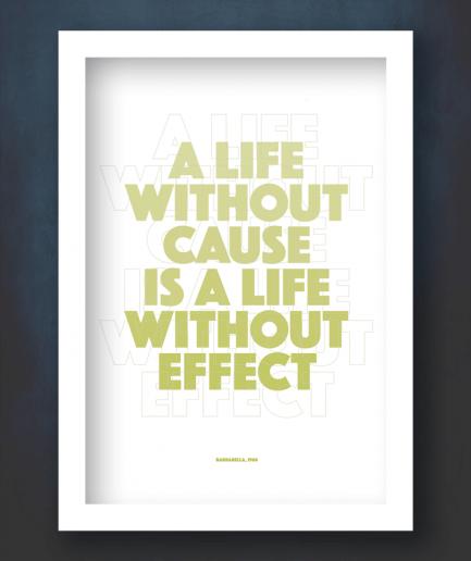 barbarella quote white frame print