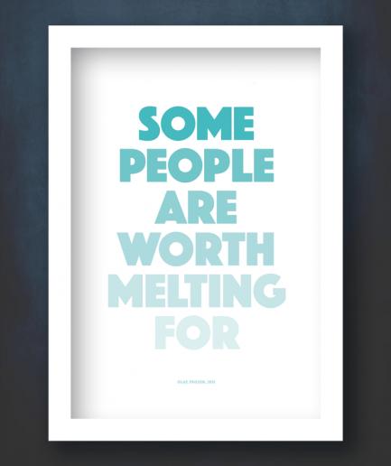 worth melring for white frame poster