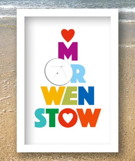 morwenstow white framed poster