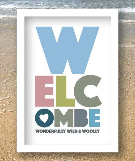 welcombe white framed print