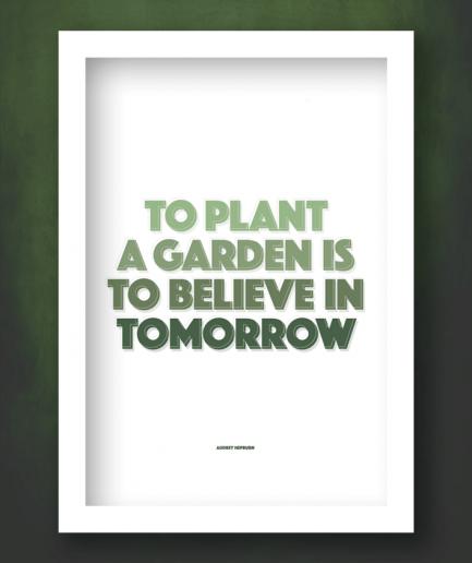 believe in tomorrow white framed print