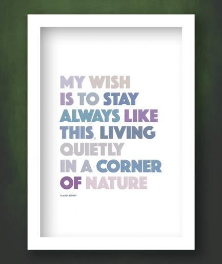 corner of nature white framed print