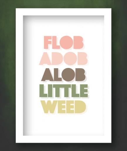 flobadobalob white frame print