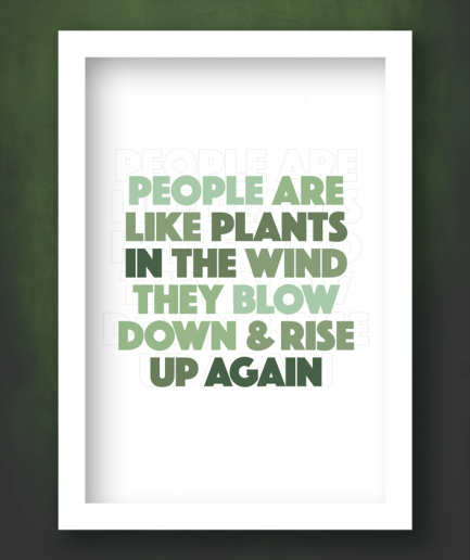 people are like plants white frame print