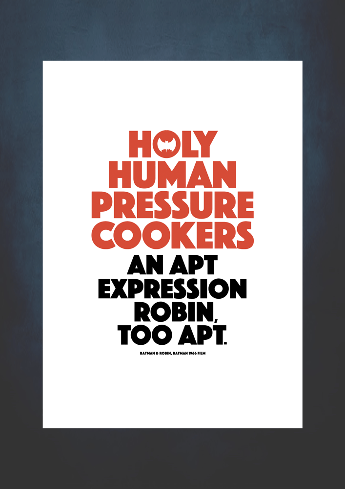 holy pressure cookers unframed print