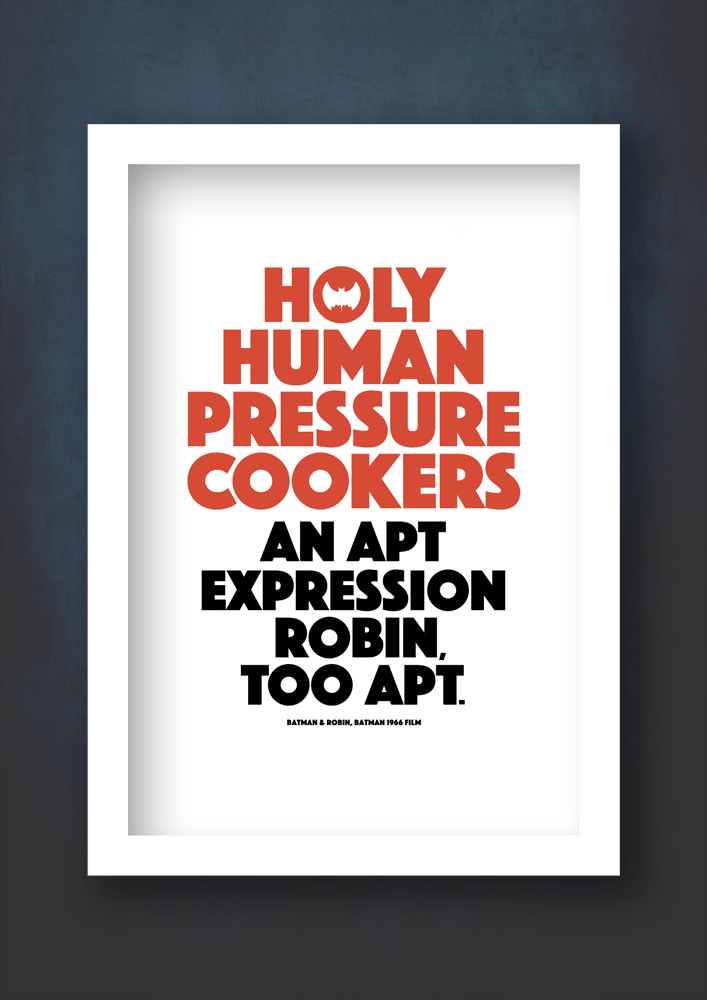 holy pressure cookers white frame print