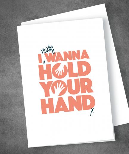 I wanna hold your hand valentine card