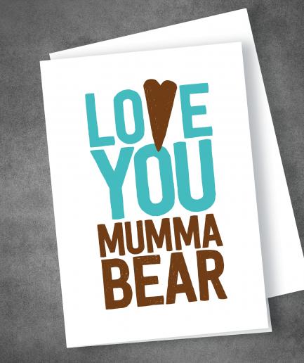 Mumma Bear Mothers Day card
