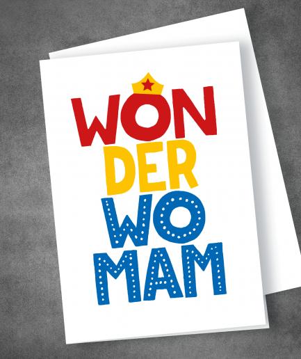 Wonderwoman wonderwomam mothers day card