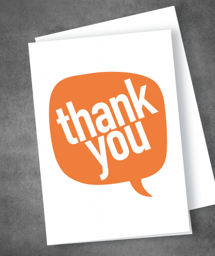 Thank You Card Orange